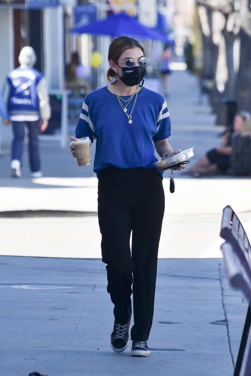 lucy hale blue look errands la after kiss skeet 03