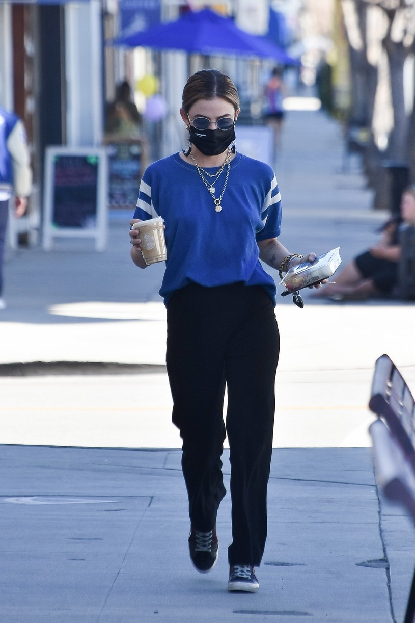 lucy hale blue look errands la after kiss skeet 06