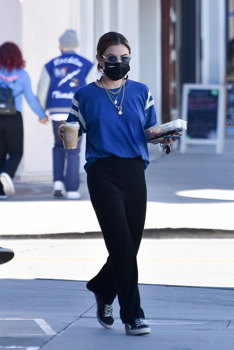 lucy hale blue look errands la after kiss skeet 08