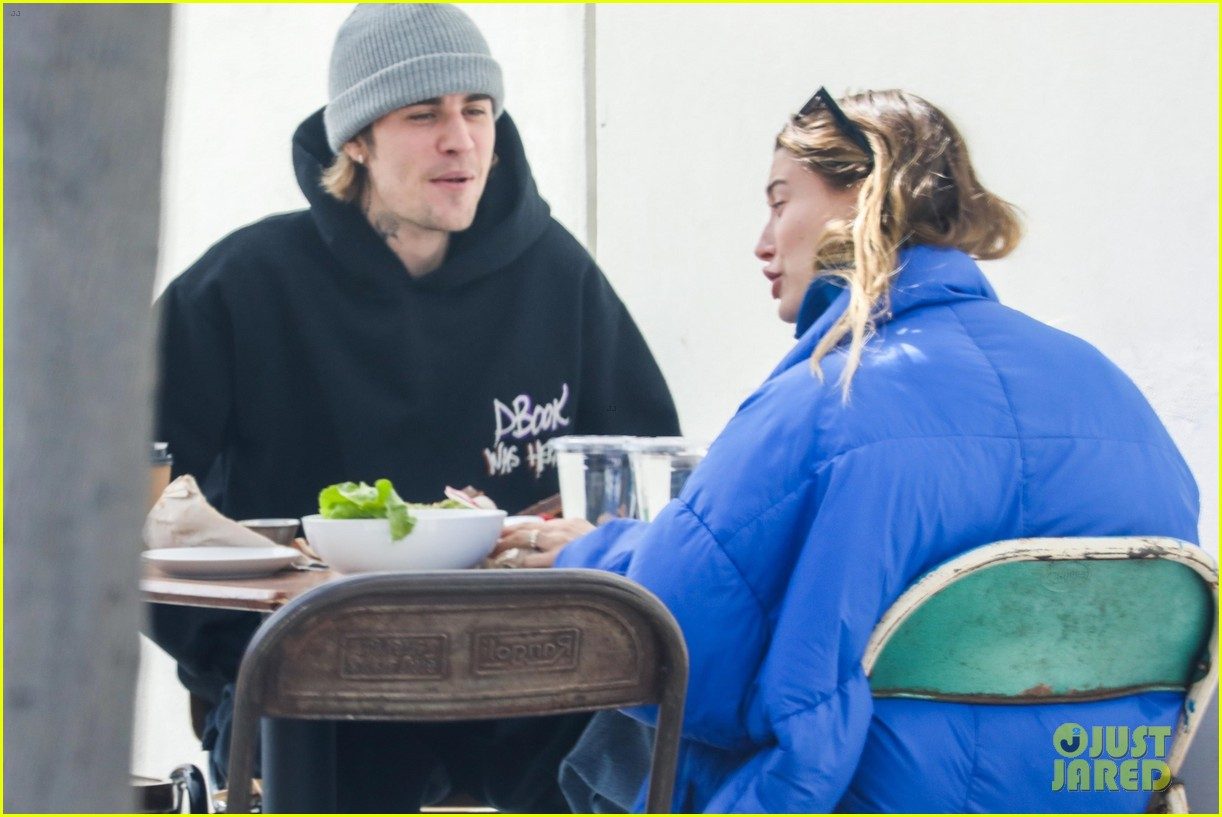 justin hailey bieber lunch ahead of grammys 44