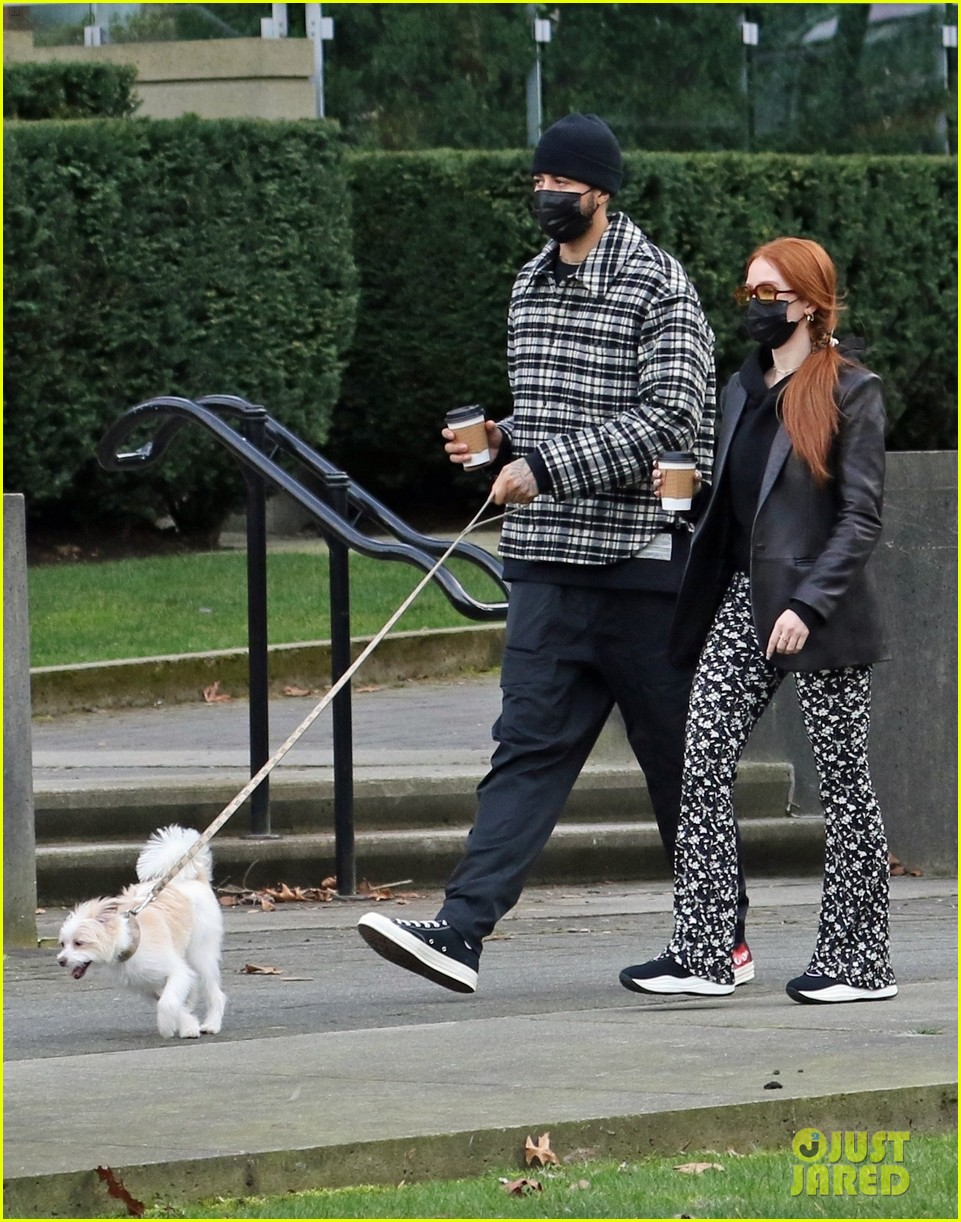 madelaine petsch new beau miles chamley watson go on dog walk 01