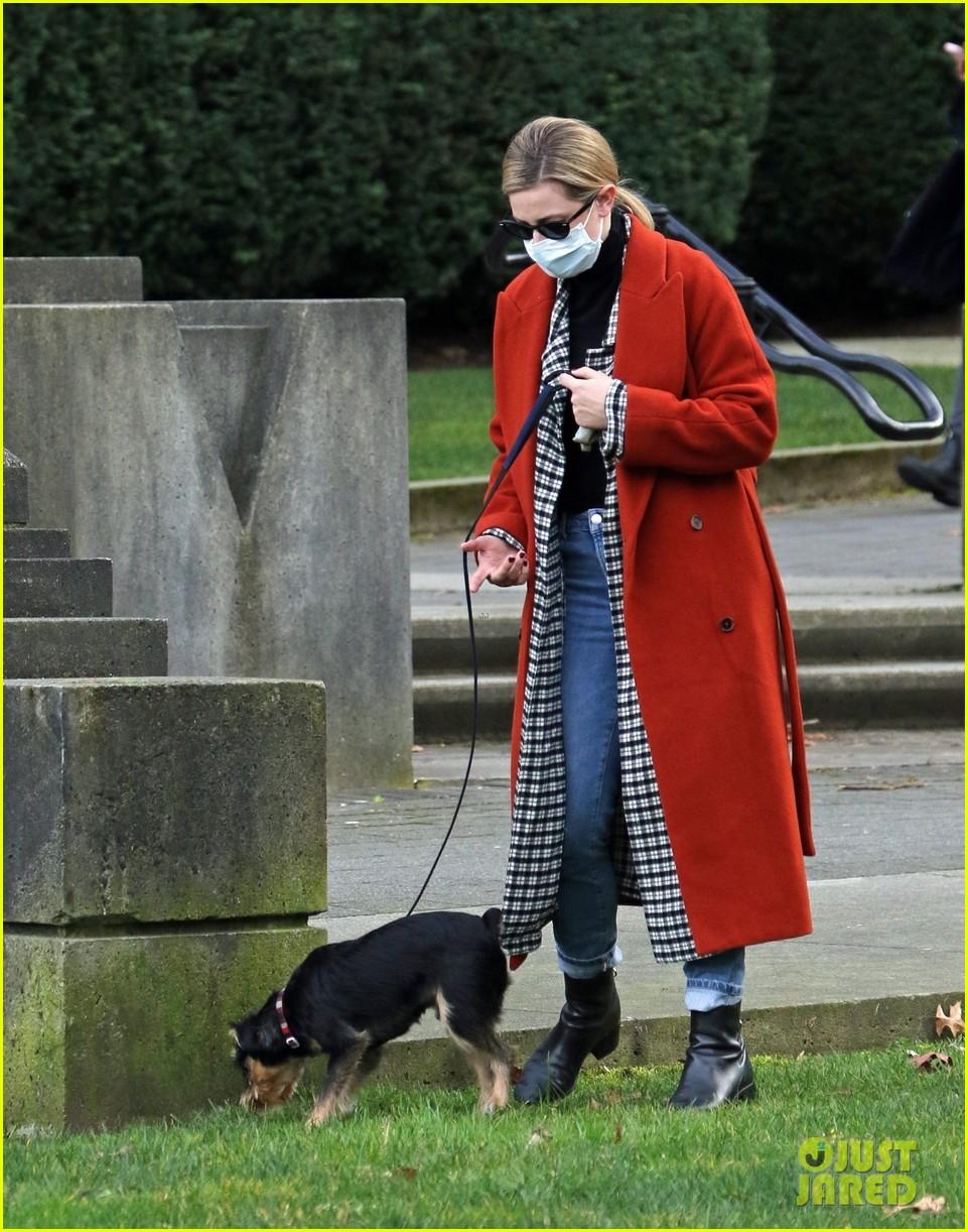 madelaine petsch new beau miles chamley watson go on dog walk 02