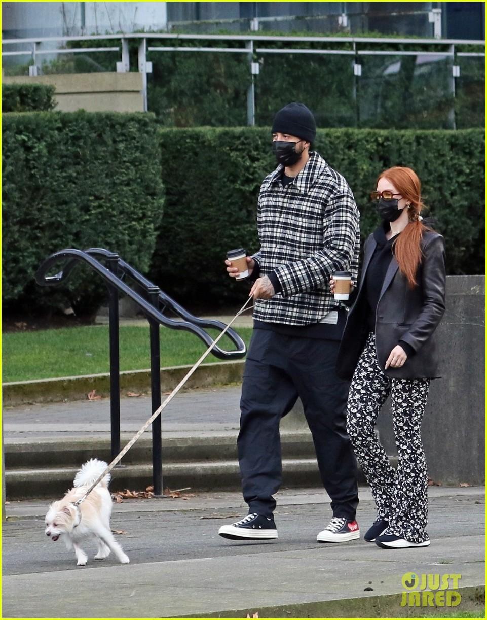 madelaine petsch new beau miles chamley watson go on dog walk 05