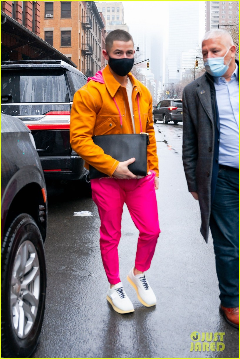 nick jonas colorful outfit out in nyc 03