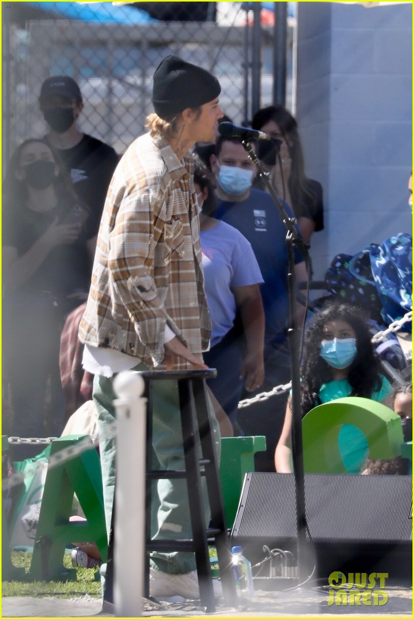 justin bieber performs at school after night out with hailey bieber 22