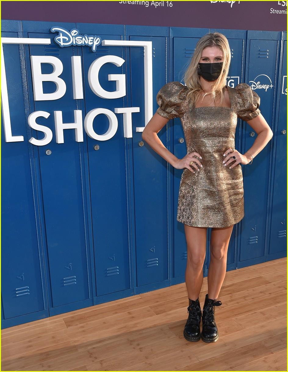 tiana le john stamos more attend big shot drive in premiere 01.