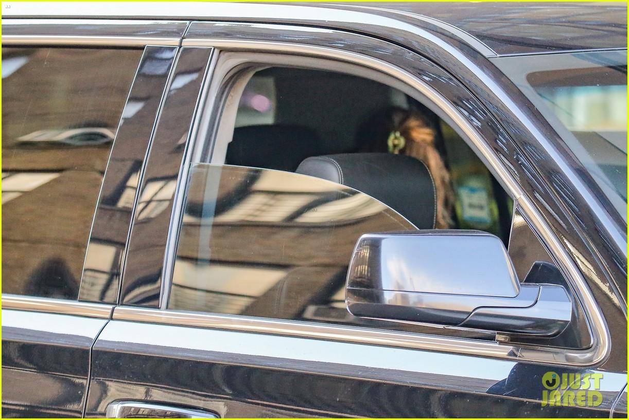 timothee chalamet runs errands lily rose depp waits in car 02