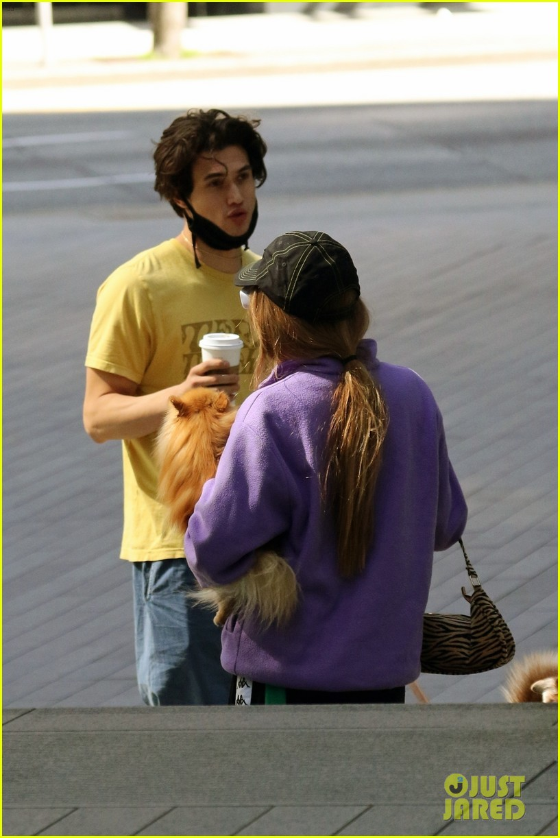 riverdale stars lili reinhart madelaine petsch charles melton all seen out with their dogs 02