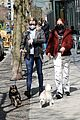 riverdale stars lili reinhart madelaine petsch charles melton all seen out with their dogs 03