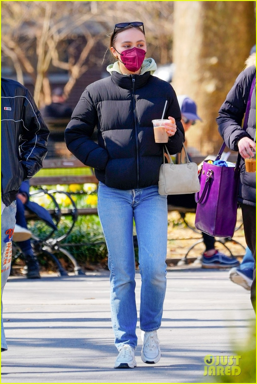 timothee chalamet lily rose depp both in new york 05