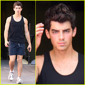 Joe Jonas Sports Short New Haircut