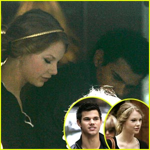 Taylor Lautner & Taylor Swift Check Out Chicago