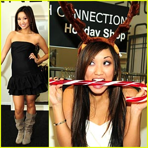 Brenda Song is Candy Cane Cute