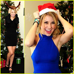 Chelsea Staub is Santa Hat Happy