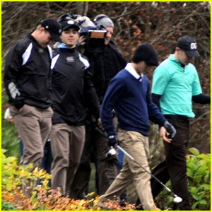 Joe, Nick & Kevin Jonas Go Golfing
