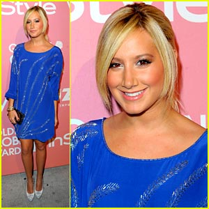 Ashley Tisdale is Brilliant in Blue