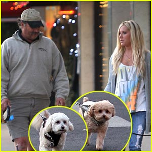 Ashley Tisdale & Pups: Prancing Pals