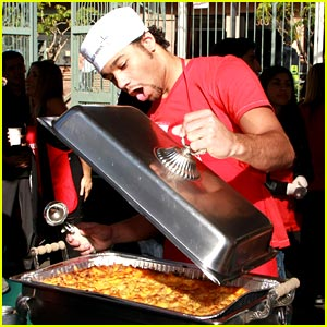 Corbin Bleu Serves Up Christmas Eve Dinner
