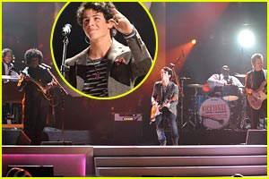 Nick Jonas & The Administration Groove at the Grammy Concert