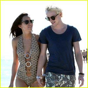 Tom Felton & Jade Olivia: Miami Mates