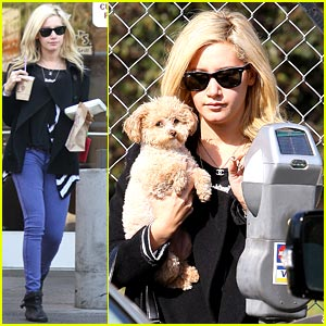 Ashley Tisdale & Maui Grab A Cup of Joe