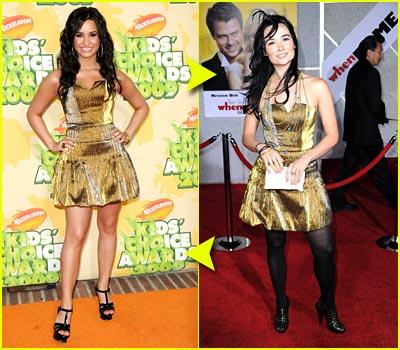 Fashion Faceoff: Ina Soltani Gold Dress