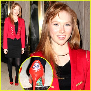 Molly Quinn Stomps in Ed Hardy Heels