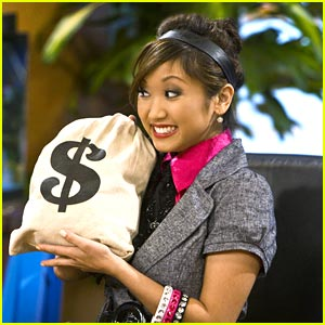 Brenda Song Shows Us The Money