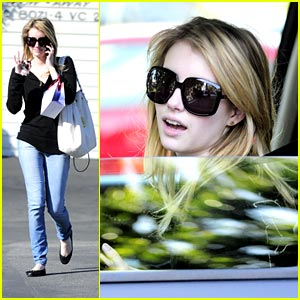 Emma Roberts Shops Fred Segal