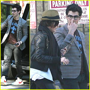 Joe Jonas Celebrates Super Bowl Sunday