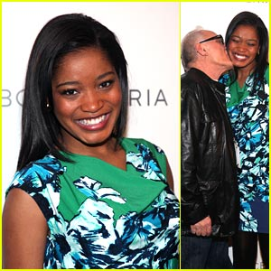 Keke Palmer Gets Kisses From Max Azria