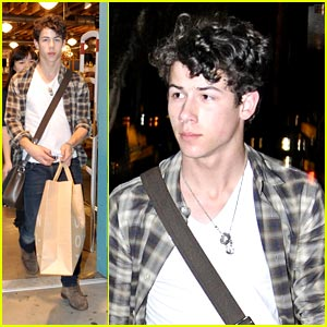 Nick Jonas Shops Urban Outfitters