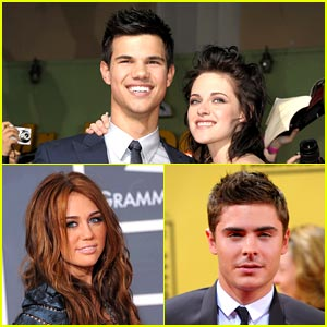 Zac & Miley to Join Kristen & Taylor at Oscars 2010