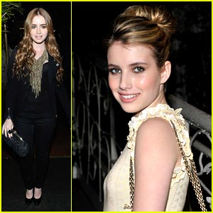 Emma Roberts & Lily Collins are Chanel Sweeties