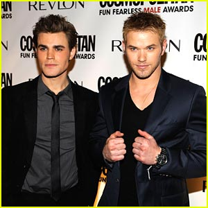 Kellan Lutz & Paul Wesley Have Some Fun in NYC