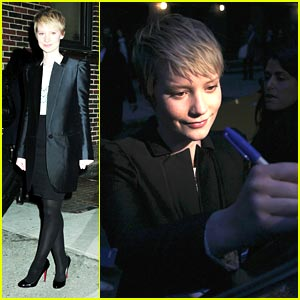 Mia Wasikowska: Late Night With Letterman!