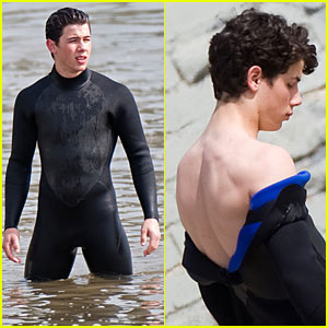 Nick Jonas Washes Up in Malibu