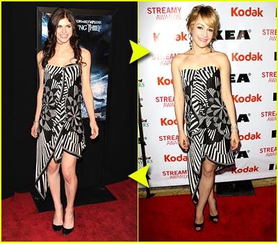 Fashion Faceoff: BCBG Geometrical Dress