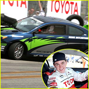 Jesse McCartney Crashes at Toyota Celebrity Grand Prix