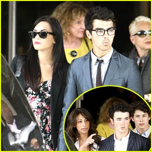 Jonas Brothers Celebrate Easter at Angel Stadium