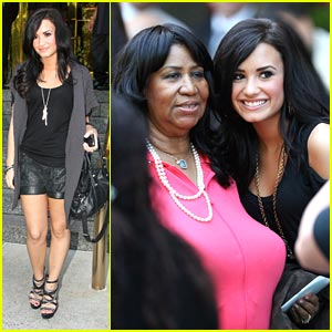 Demi Lovato Meets Queen of Soul!