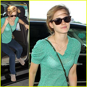 Emma Watson: On The Go in Green