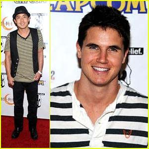 Robbie Amell & Allen Evangelista Stripe It Up