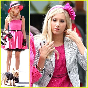 Ashley Tisdale is Pretty in Lots of Pink