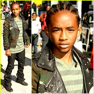 Jaden Smith Checks Out Letterman