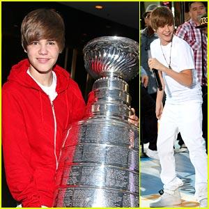 Justin Bieber: Stanley Cup Cutie