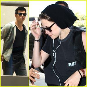 Kristen Stewart & Taylor Lautner: Lift Off from LAX