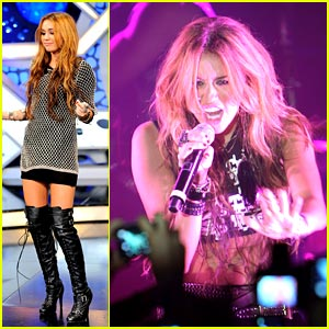Miley Cyrus is Thigh High Boot Beautiful