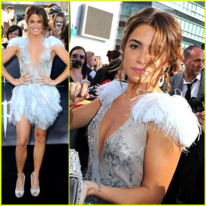 Nikki Reed Feathers It Up