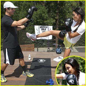 Shay Mitchell is Kick-Boxing Cute
